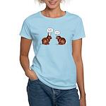 Chocolate Easter Bunnies Women's Light T-Shirt