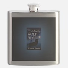 The Amazing Wolf Boy button mag Flask