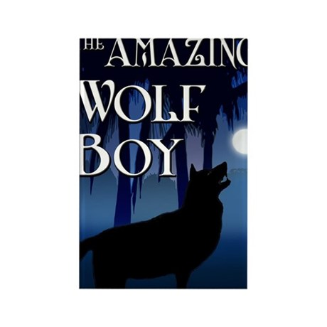 The Amazing Wolf Boy Rectangle Magnet