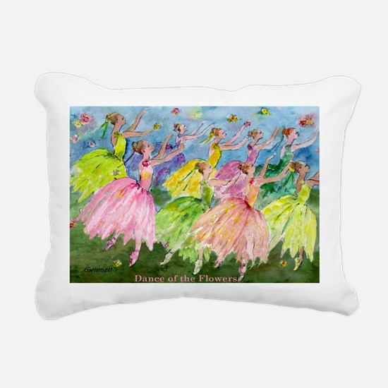 flowerdance1. Rectangular Canvas Pillow