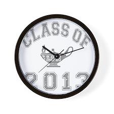 CO2013 LPN Gray Distressed Wall Clock