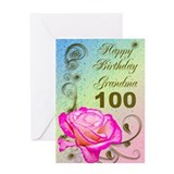 100 birthday grandma Greeting Cards