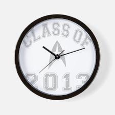 CO2013 Trekkies Gray Distressed Wall Clock