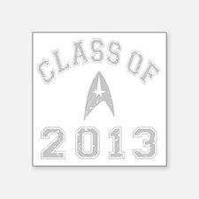 "CO2013 Trekkies Gray Distre Square Sticker 3"" x 3"""