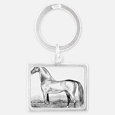 Horse Illustration1 Landscape Keychain