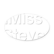imiss Oval Car Magnet