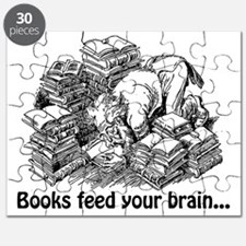 Knowledge 5 books feed your brain Puzzle