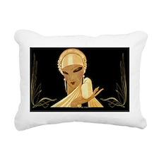 1 JAN VOG GoldLadyWBird Rectangular Canvas Pillow