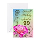99th birthday for grandma Greeting Cards