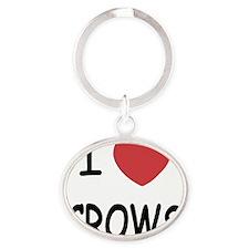 CROWS Oval Keychain