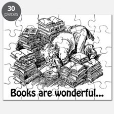Knowledge 6 books are wonderful Puzzle