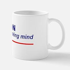 Religion Stops a Thinking Mind Small Small Mug