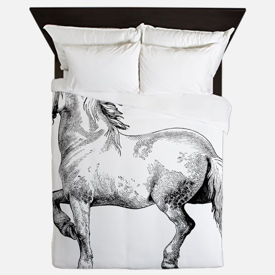 Horse Illustration3 Queen Duvet