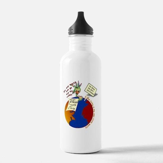 my world8x10 copy Water Bottle