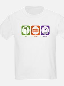Eat Sleep Archives Kids T-Shirt