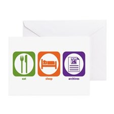 Eat Sleep Archives Greeting Cards (Pk of 10)