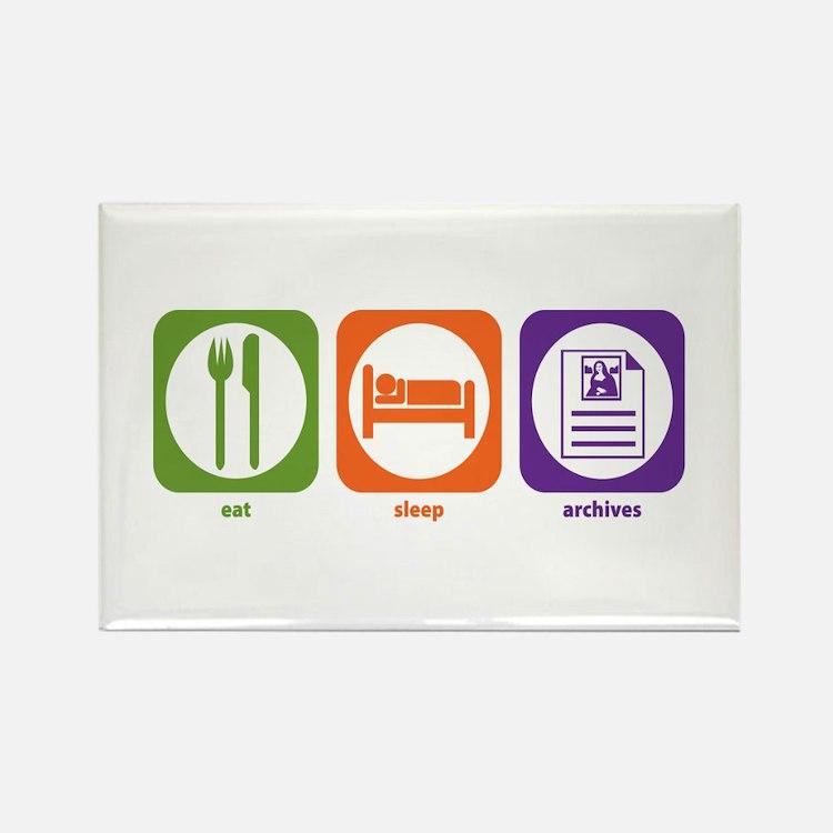 Eat Sleep Archives Rectangle Magnet (10 pack)