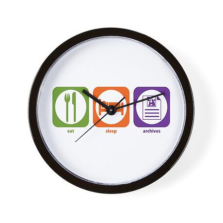 Eat Sleep Archives Wall Clock