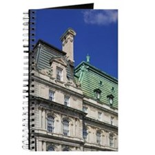Montreal. View of City Hall building with  Journal