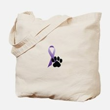 Animal Cruelty Awareness Ribbon Tote Bag
