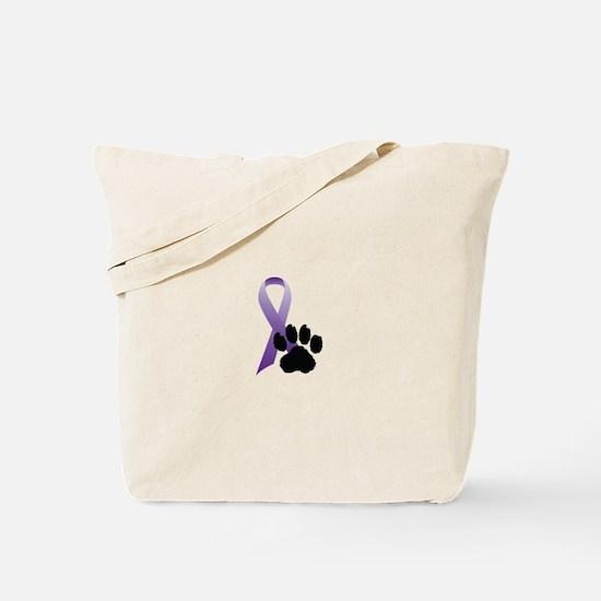 Animal Cruelty Awareness Ribbon Tote Bag