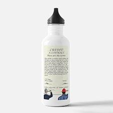 credit_shirt Water Bottle