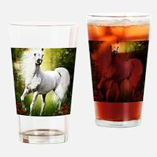 Grey Stallion Drinking Glass