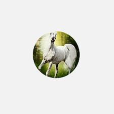 Grey Stallion Mini Button