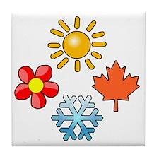 Seasons Tile Coaster