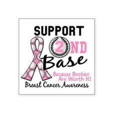 """- Support 2nd Base Breast C Square Sticker 3"""" x 3"""""""