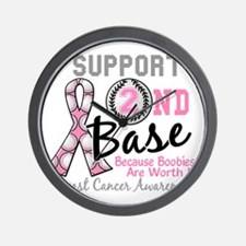 - Support 2nd Base Breast Cancer Wall Clock