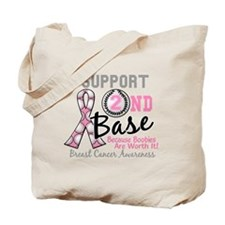 - Support 2nd Base Breast Cancer Tote Bag