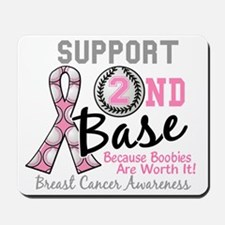- Support 2nd Base Breast Cancer Mousepad