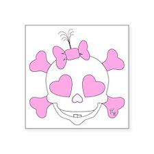 "Original KZ Baby Skull Square Sticker 3"" x 3"""