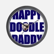 FIN-happy-doodle-daddy Wall Clock
