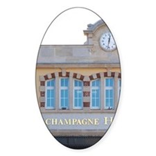 The entrance to the winery at Champ Decal