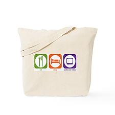 Eat Sleep Audio and Video Tote Bag