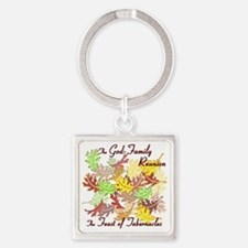 The God Family Reunion10X10 Square Keychain