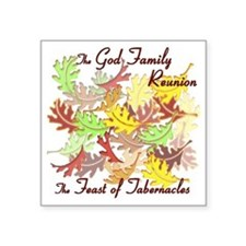"The God Family Reunion10X10 Square Sticker 3"" x 3"""