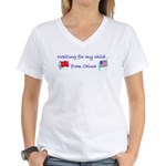 Waiting for my child...from C Women's V-Neck T-Shi