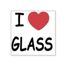 "GLASS Square Sticker 3"" x 3"""