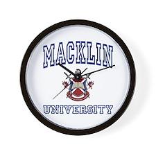 MACKLIN University Wall Clock