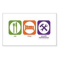 Eat Sleep Aircraft Maintenance Sticker (Rectangula