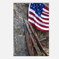 American flag and weapons Postcards (Package of 8)