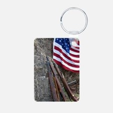 American flag and weapons, Keychains