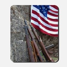 American flag and weapons, 66th Annivers Mousepad