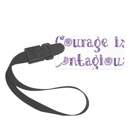 Courage is Contagious, purple bl Small Luggage Tag