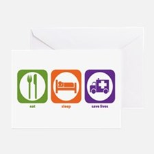 Eat Sleep Save Lives Greeting Cards (Pk of 10)