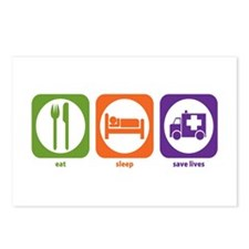 Eat Sleep Save Lives Postcards (Package of 8)