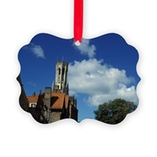Belgium, Bruges, Dijver Canal. Ornament